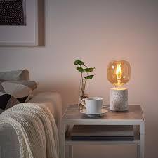 lunnom led leuchtmittel e27 80 lm röhrenförmig klarglas braun