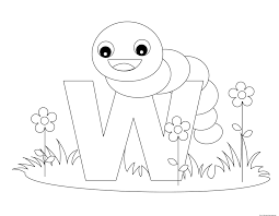 Printable Alphabet Letters With Animals W Is For WormFree