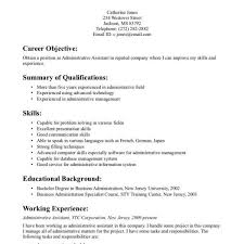 Administrative Assistant Resume With No Experience Eczasolinfco For Admin Cv