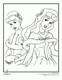 Disney Christmas Coloring Pages Princesses Page Cartoon Jr