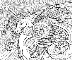 Unicorn Horse Coloring Page Patterns Colouring