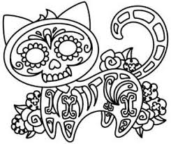 Sugar Skull Pumpkin Carving Patterns by Skelakitty Coloring Diy Pinterest Urban Threads Embroidery