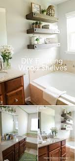 Craftaholics Anonymous® | DIY Floating Shelves Bathroom Shelves Ideas Shelf With Towel Bar Hooks For Wall And Book Rack New Floating Diy Small Chrome Over Bath Storage Delightful Closet Cabinet Toilet Corner Decorating Decorative Home Office Shelving Solutions Adjustable Vintage Antique Metal Wire Wall In The Basement Inspiration Living Room Mirror Replacement Looking Powder Unit Behind De Dunelm Argos