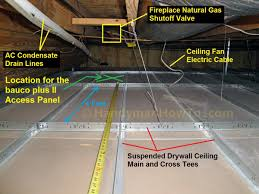 Installing Drywall On Ceiling In Basement by How To Install A Bauco Plus Ii Drywall Access Panel Part 1
