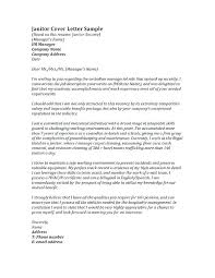 T Format Cover Letter Formatting A For Resume Janitorial Sample Custodial Position Bio