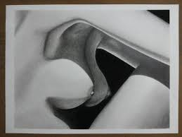 Saatchi Art Nude Light and Shadow Drawing by Richard Gomes
