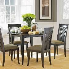 diy brown wood dining room table centerpieces 4 chairs round table
