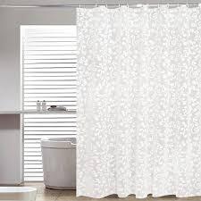 einfache bad vorhang weiß geometrische gedruckt schutz peva dusche vorhänge kunststoff wasserdichte form beweis bad produkte