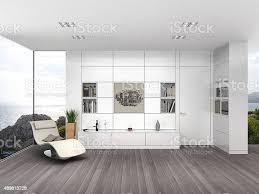 moderne wohnzimmer mit weißen wand boarding stockfoto und mehr bilder 2015