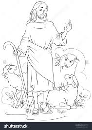 Jesus Is The Good Shepherd Coloring Page For Pages Within