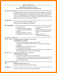 Medical Assistant Resume Examples Skills 2015 Example Modern 2
