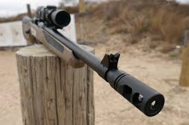 Starting Out At The Front Of Gun Theres A Rather Large Muzzle Brake That Does Great Job Soaking Up Recoil 308 Winchester Round