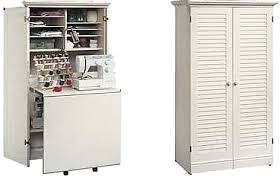 Sauder Sewing Craft Cabinet by Sauder Harbor View Craft Armoire 298 At Furniturebuzz Com