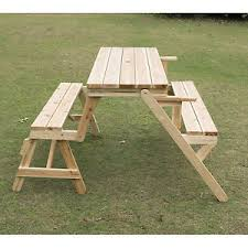 Outsunny Patio Furniture Instructions by Outsunny Patio 2 In 1 Outdoor Interchangeable Picnic Table
