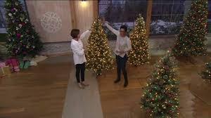 Bethlehem Lights Christmas Trees Qvc by Hallmark Fallen Snow Christmas Tree With Quick Set Technology On