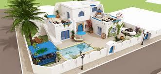 plan villa moderne maroc