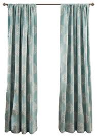 Lush Decor Window Curtains by Sophie Blackout Blue Window Panel Mediterranean Curtains By