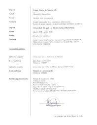 La Carta De Presentación Modelo Curriculum