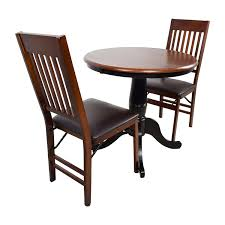 Pier One Round Dining Room Table by 69 Off Pier 1 Pier 1 Keeran Bistro Rubbed Black Round Table