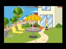 caillou pees on rosie s lemonade grounded youtube