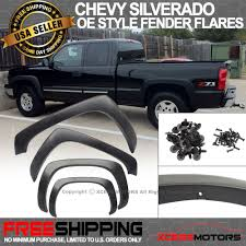 Fit 99-06 Chevy Silverado Smooth Fender Flares Black PP Vent OE ... Bushwacker Chevy Silverado 2004 Pocket Style Matte Black Fender For 9907 Silveradogmc Sierra Pickup 4pc Set Pockriveted Lund Rxrivet Flares 1415 1500 Rough Country Wrivets For 62018 Chevrolet Boltriveted 42018 Green With Dna Motoring 9906 Gmc Factory 4095602 Flare Oestyle Set Intertional Bushwacker Products F Rivet 59 Bed Length