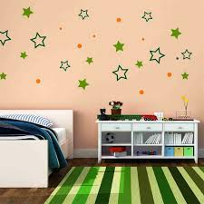 Minimalist Kids Bedroom Decorating With Simple DIY Wall Decal