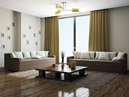 Dark Brown Sofa Living Room Ideas simple living room curtain black sofa laminate wood flooring black