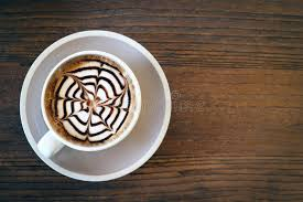 Download Mocha Coffee Also Called Caffe With Wooden Saucer Interior Shop Stock