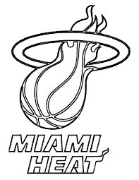 Basketball Miami Heat Baskeball Coloring Page PageFull Size Image