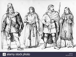 Fashion Ancient World Germanic Clothing For Men And Women Drawing Germany 19th Century Historic Historical