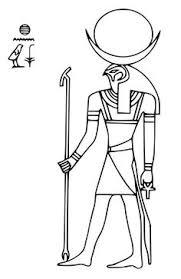 Ancient Egypt Sun God Ra Coloring Page