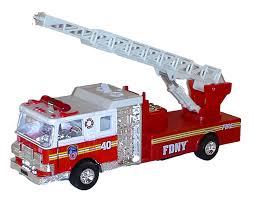 100 Fire Trucks Toys FDNY PULLBACK LADDER TRUCK