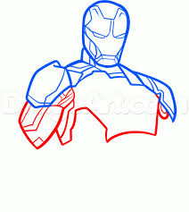 How To Draw Iron Man 3 Step