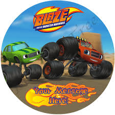 Blaze And The Monster Machines Edible Image | The Monkey Tree Personalised Monster Truck Edible Icing Birthday Party Cake Topper Buy 24 Truck Tractor Cupcake Toppers Red Fox Tail Tm Online At Low Monster Trucks Cookie Cnection Grave Digger Free Printable Sugpartiesla Blaze Cake Dzee Designs Jam Crissas Corner Cake Topper Birthday Edible Printed 4x4 Set Of By Lilbugspartyplace 12 Personalized Grace Giggles And Glue Image This Started