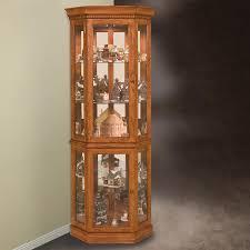 amazing lighted corner curio cabinet the clayton design