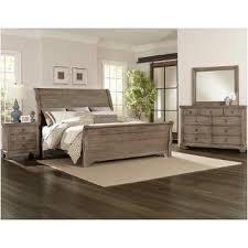 Whiskey Barrel Rustic Gray Bedroom Set Vaughan Bassett Furniture