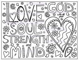 Coloring Page Bible Verse Love By PurpleBeeCreations