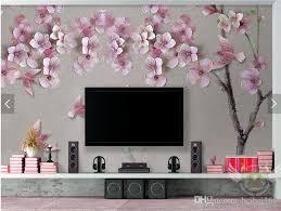 großhandel pfirsichblüte blumentapete fototapete wand papierrollen wohnzimmer tv hintergrund tapeten wohnkultur 3d heimwerker beibei168 14 93