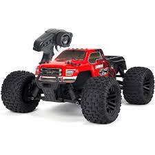100 Red Monster Truck Arrma 110th Granite 4x4 Mega RTR With Black Body