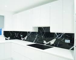 Custom Printed Black Stone Texture Glass Splashback