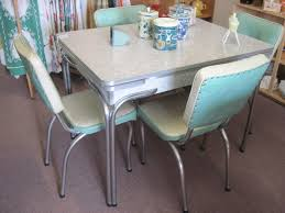 Kitchen Retro Tables And Chairs On Regarding Cracked Ice Table 10