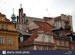 100 Warsaw Apartments Old Town Square In Colorful Apartments Stock Photo