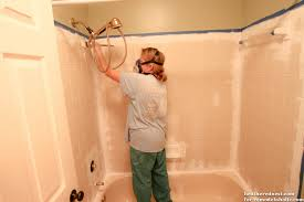 Tiling A Bathtub Enclosure by Remodelaholic How To Update A Tile Shower U0026 Tub In A Weekend
