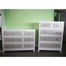 pali treviso two tone 5 drawer dresser in white grey grey