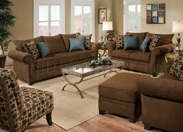 sable brown fabric sofa loveseat set w accent throw pillows