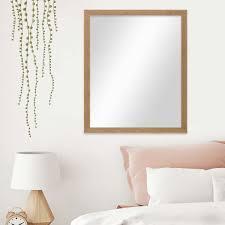 wand spiegel 56x66 cm im strandhaus stil eiche optik rustikal spiegelfläche 50x60 cm