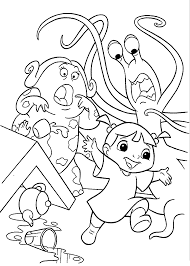 Monster Inc Coloring Pages For Kids Printable Free