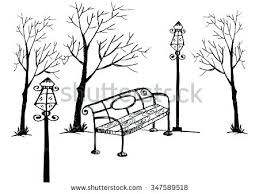 park bench drawing – neoattica