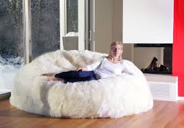 Image Of Fuzzy Bean Bag Chairs For Adults