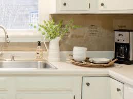 Cheap Backsplash Ideas For Kitchen by Creative Inspiring Diy Kitchen Backsplash With Recipe On Burlap Ideas